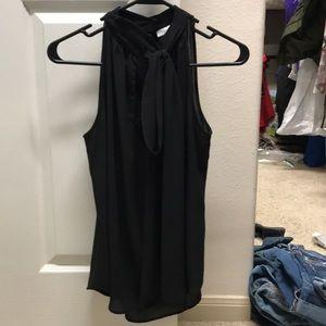New York & Co Black Tie Top Small